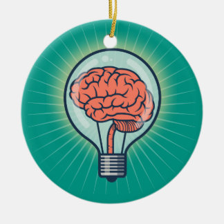Ornamento De Cerâmica Ilustração Brainy da ampola