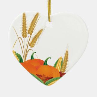 Ornamento De Cerâmica Ilustração da colheita da queda