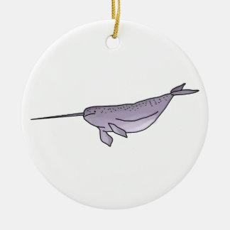 Ornamento De Cerâmica Ilustração de Digitas Narwhal, animal de mar