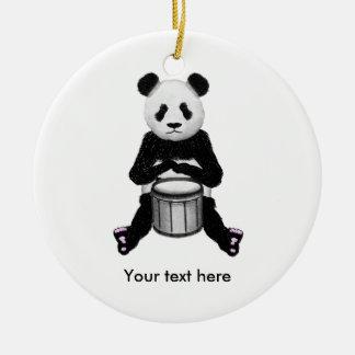 Ornamento De Cerâmica Ilustração do cilindro do urso de panda