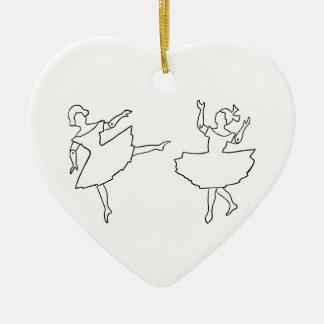 Ornamento De Cerâmica Ilustração do entalhe dos dançarinos