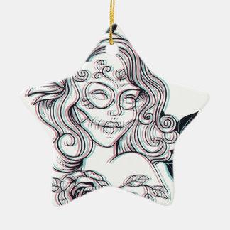 Ornamento De Cerâmica ilustração do gráfico da menina