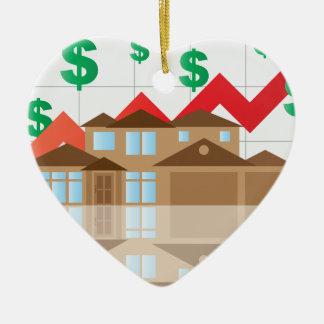 Ornamento De Cerâmica Ilustração do gráfico do valor da ascensão da casa