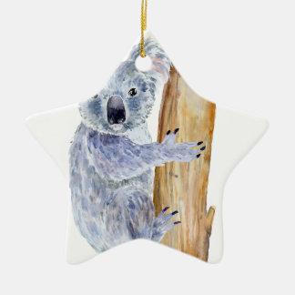 Ornamento De Cerâmica Ilustração do koala da aguarela