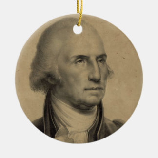 Ornamento De Cerâmica Ilustração do retrato de George Washington do