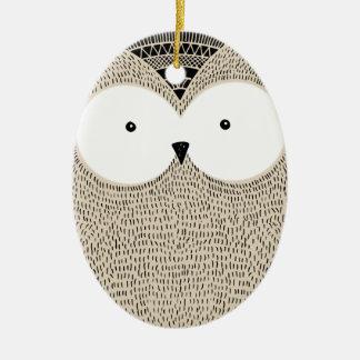 Ornamento De Cerâmica Ilustração esboçado da coruja engraçada bonito