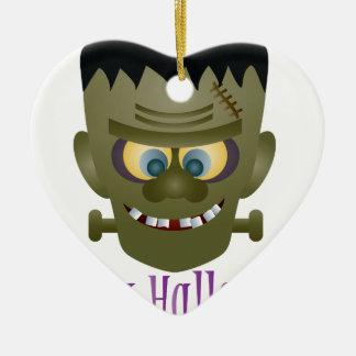 Ornamento De Cerâmica Ilustração feliz do monstro do Dia das Bruxas