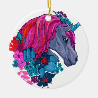 Ornamento De Cerâmica Ilustração mágica violeta bonito da fantasia do