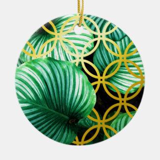 Ornamento De Cerâmica Ilustração moderna geométrica das folhas