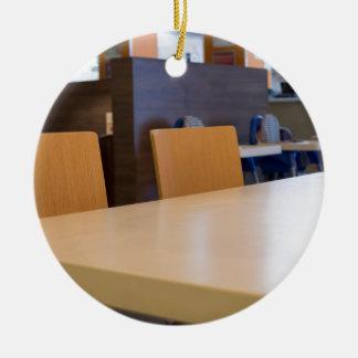 Ornamento De Cerâmica Imagem borrada do café interior