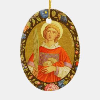 Ornamento De Cerâmica Imagem dobro St Stephen o ProtoMartyr (PM 08)