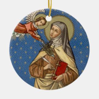Ornamento De Cerâmica Imagem dobro St Teresa de Avila (SAU 28)