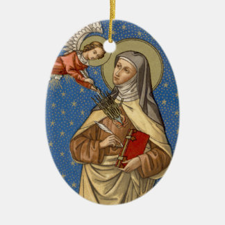 Ornamento De Cerâmica Imagem dobro St Teresa do Oval de Avila (SAU 28)