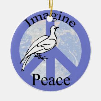 Ornamento De Cerâmica Imagine a paz