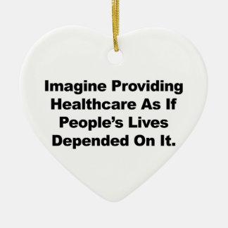 Ornamento De Cerâmica Imagine as vidas do pessoa dos cuidados médicos