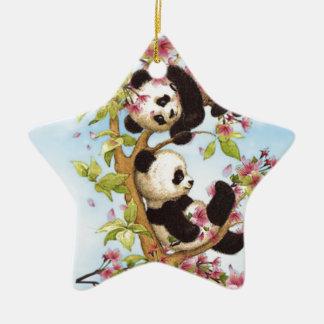 Ornamento De Cerâmica IMG_7386.PNG bonito e panda colorida projetada