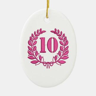 Ornamento De Cerâmica imitação de 10 felicitações do bordado