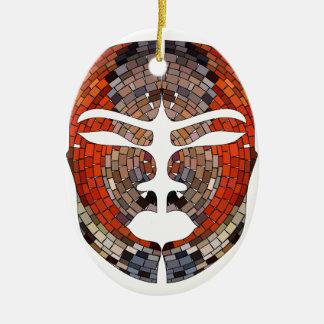 Ornamento De Cerâmica Imitação do abstrato da máscara africana