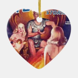 Ornamento De Cerâmica Imperador do espaço com seus Concubines