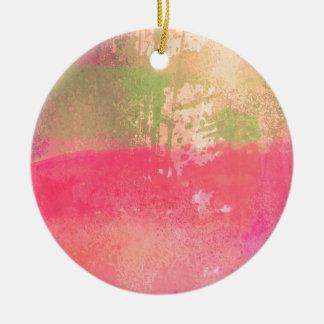 Ornamento De Cerâmica Impressão abstrato da aguarela do Grunge