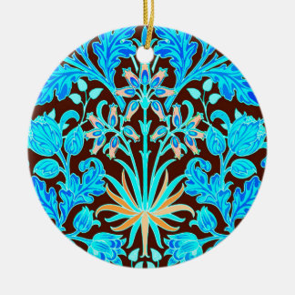 Ornamento De Cerâmica Impressão, Aqua e Brown do jacinto de William