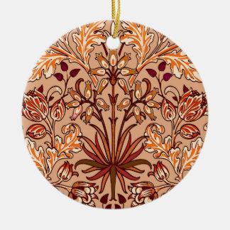 Ornamento De Cerâmica Impressão, Brown e bege do jacinto de William