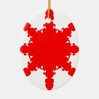 Ornamento De Cerâmica Impressão circular vermelho