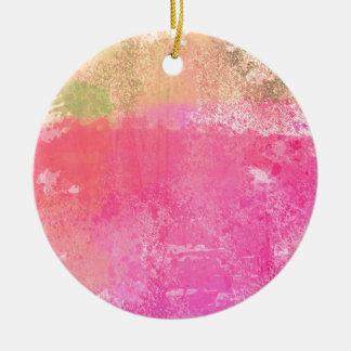 Ornamento De Cerâmica Impressão da aguarela do Grunge da arte abstracta