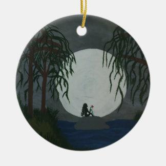 Ornamento De Cerâmica Impressão da arte da solidão