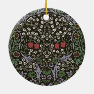 Ornamento De Cerâmica Impressão da arte da tapeçaria da ameixoeira-brava