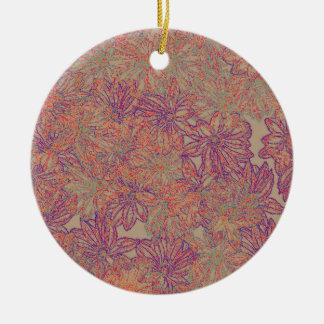 Ornamento De Cerâmica Impressão da margarida de Rennie