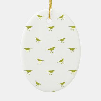 Ornamento De Cerâmica Impressão da silhueta dos pássaros