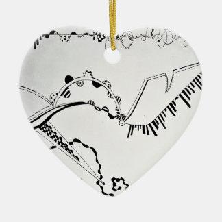 Ornamento De Cerâmica Impressão do desenho dos calçados da forma de