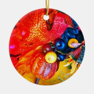 Ornamento De Cerâmica impressão do outono