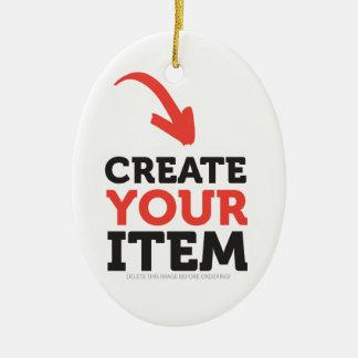 Ornamento De Cerâmica Impressão feito sob encomenda de CREATE-YOUR-OWN
