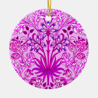 Ornamento De Cerâmica Impressão, lavanda e violeta do jacinto de William