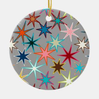 Ornamento De Cerâmica Impressão moderno de Starburst, cores da jóia em