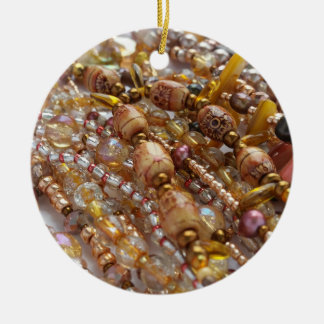 Ornamento De Cerâmica Impressão natural da miçanga de Earthtones do
