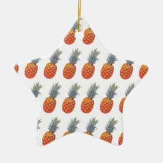 Ornamento De Cerâmica Impressão pequeno do abacaxi