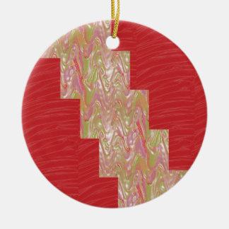 Ornamento De Cerâmica Impressão vermelho elegante DE SEDA do tecido das