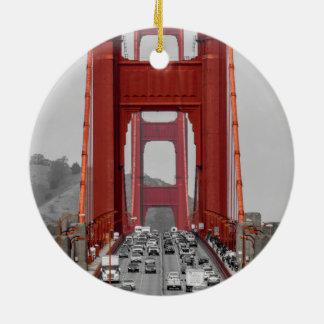 ORNAMENTO DE CERÂMICA IMPRESSIONANTE! GOLDEN GATE BRIDGE CALIFÓRNIA EUA