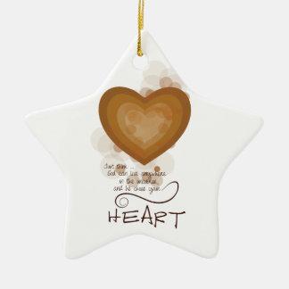 Ornamento De Cerâmica Incentivo religioso do coração, Grunge