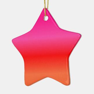 Ornamento De Cerâmica Inclinação cor-de-rosa, vermelho e alaranjado