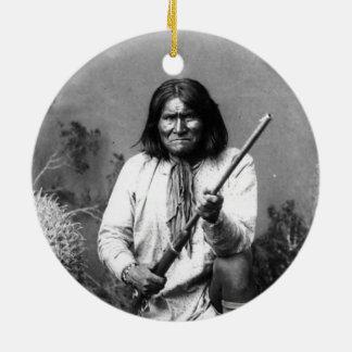Ornamento De Cerâmica Indiano icónico histórico Geronimo do nativo