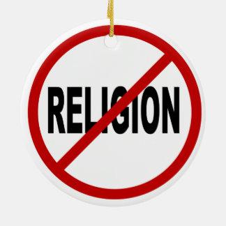 Ornamento De Cerâmica Indicação permitida religião do sinal de /No da