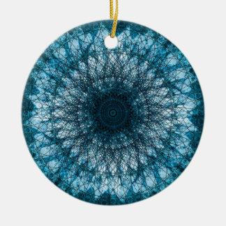 Ornamento De Cerâmica Índigo Blue Mandala