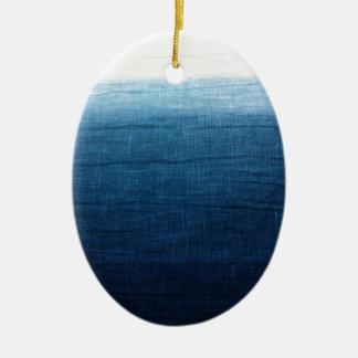 Ornamento De Cerâmica Índigo minimalista da aproximação 2
