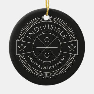 Ornamento De Cerâmica Indivisível, com liberdade e justiça para todos