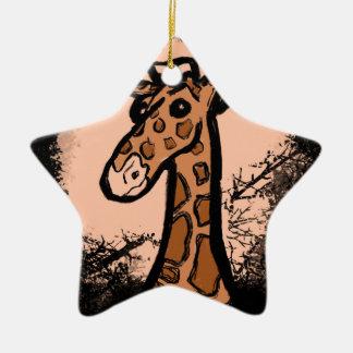 Ornamento De Cerâmica Inky_Giraffe