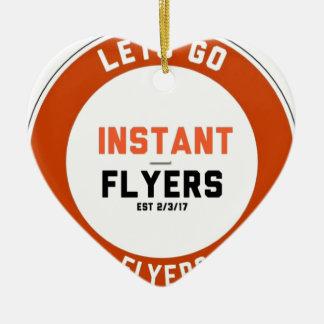 Ornamento De Cerâmica Instant_Flyers